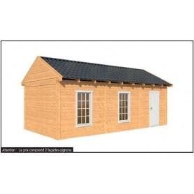 abri de jardin studio en kit cabane de jardin toit plat. Black Bedroom Furniture Sets. Home Design Ideas