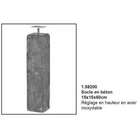 Socle en béton 15x15x60cm
