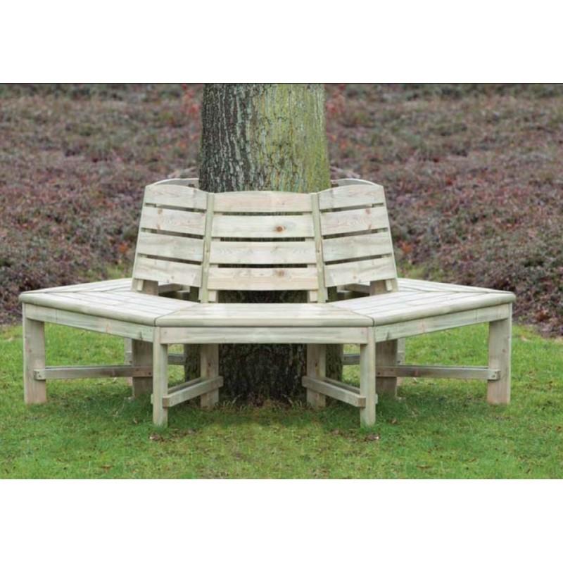Banc exterieur tour d 39 arbre avec dossier epaisseur 3cm for Table exterieur avec banc integre