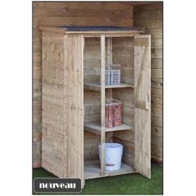 armoire de jardin en bois sapin imprégné VAALS 100x72x184 en promo