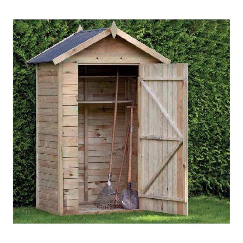 armoire de jardin en bois drenthe 120x80x180 222 promo. Black Bedroom Furniture Sets. Home Design Ideas