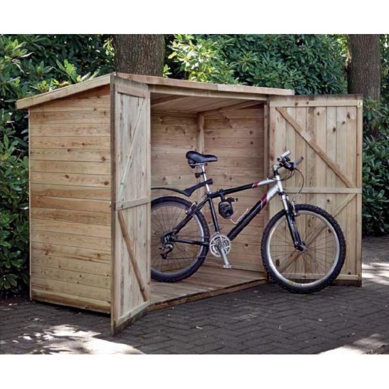 Box garage à vélo en pin imprégné WESTERWALD