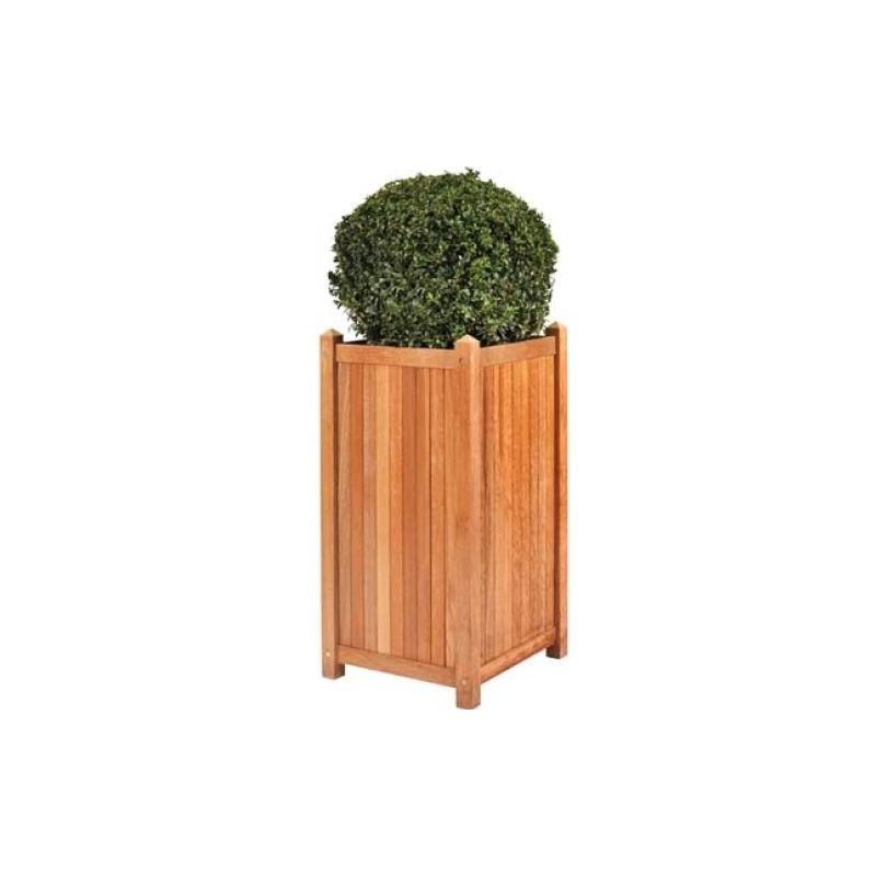 Jardinière en teck L45xl45xH90cm Sumatra