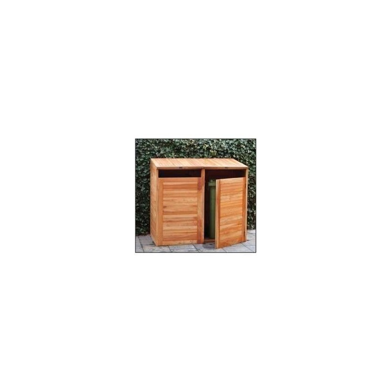 abri cache poubelles double en bois dur paisseur 18mm. Black Bedroom Furniture Sets. Home Design Ideas