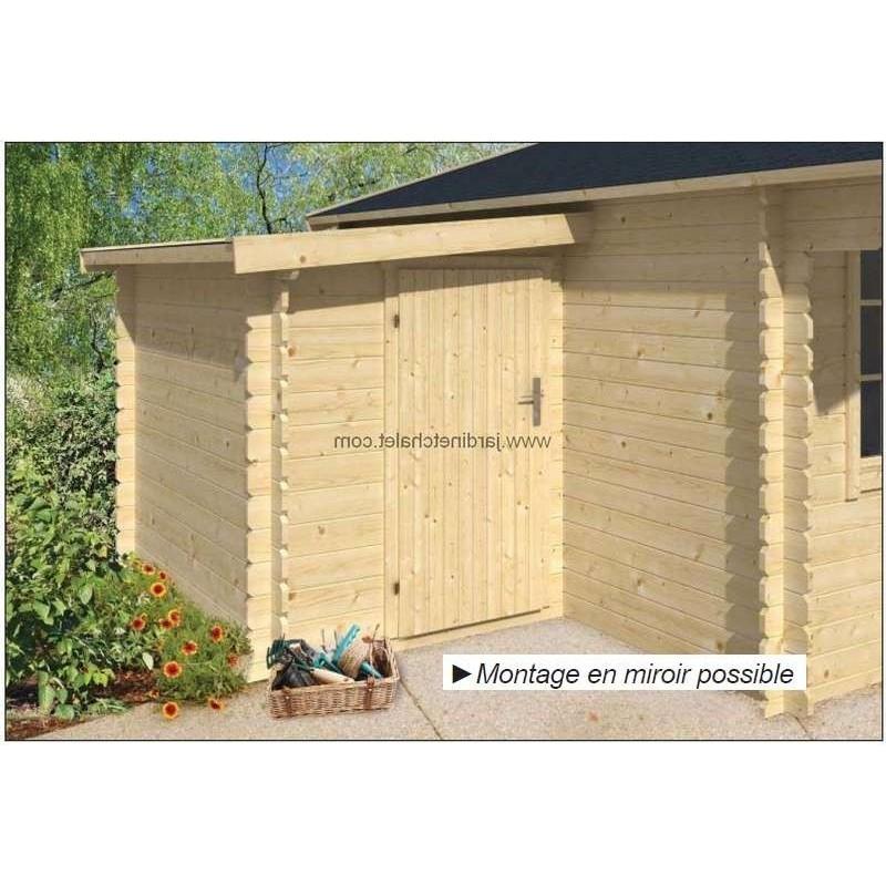 Chalet annexe 45mm pour abri de jardin bois 160x300cm