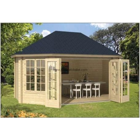 Chalet salon de jardin 359x522cm GUDRUNE 18m2