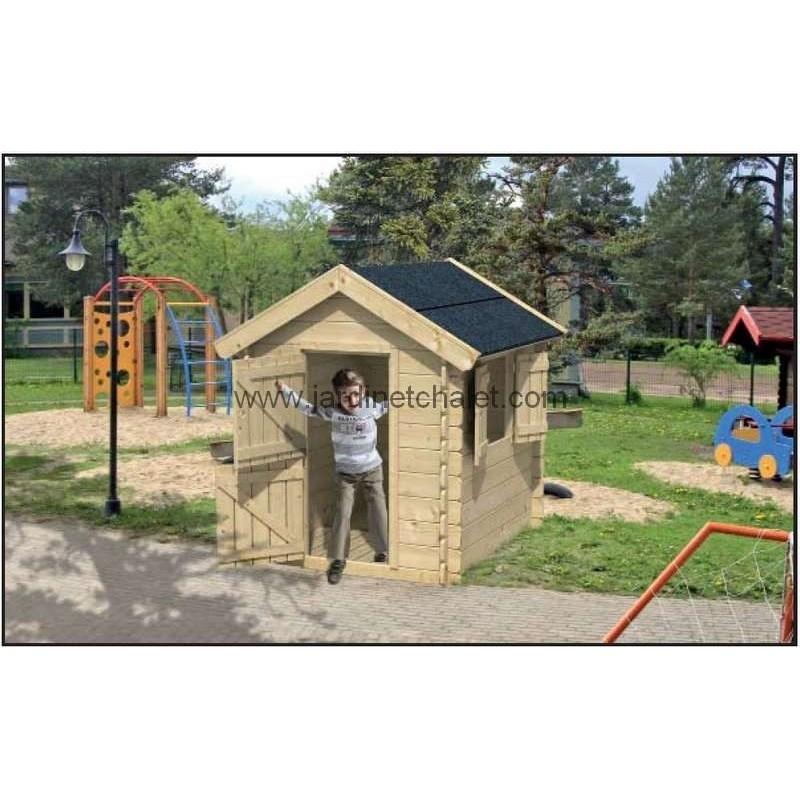 cabane de jardin maisonnette pour enfant cabane en bois. Black Bedroom Furniture Sets. Home Design Ideas