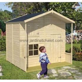 Maisonnette de jeux bois cendrillon à étage