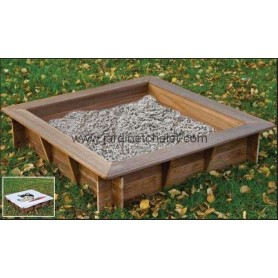 Bac à sable en bois dur avec bache
