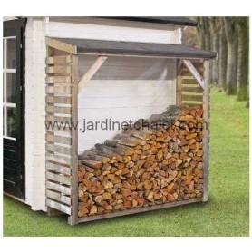 Abri pour bois de cheminée