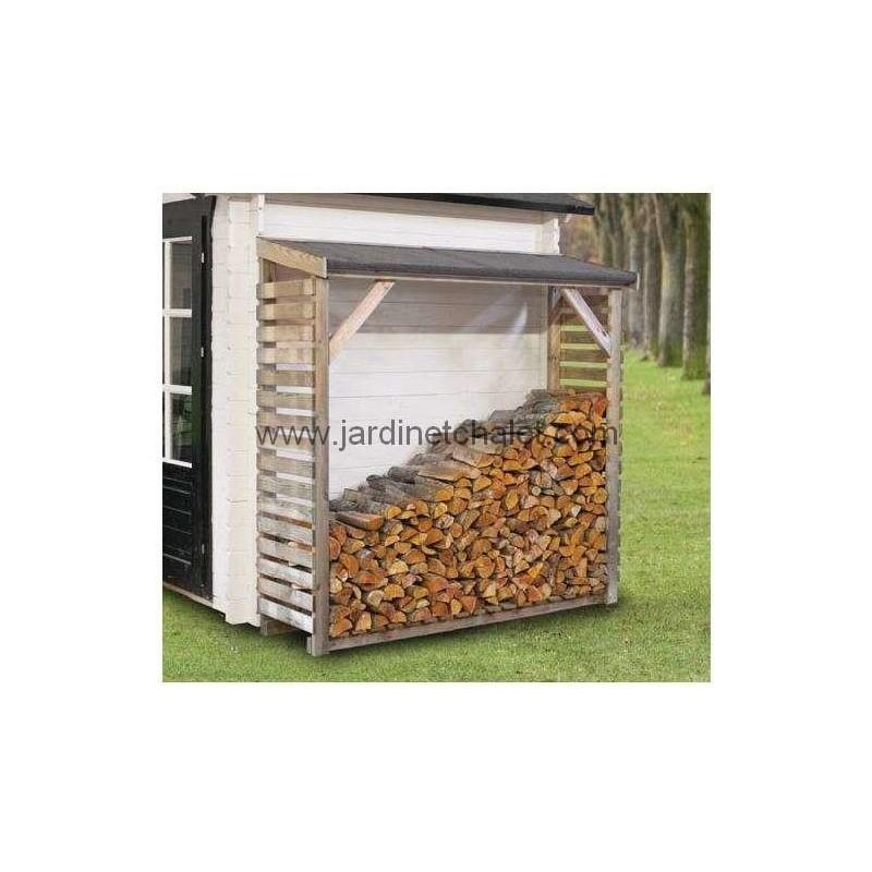 Abri pour bois de cheminée TUINDECO