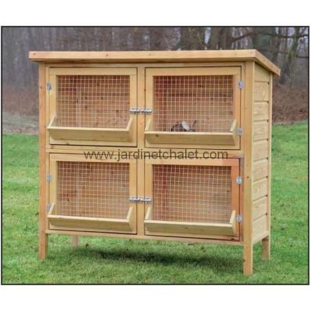 Grande cage lapin Rijnlander