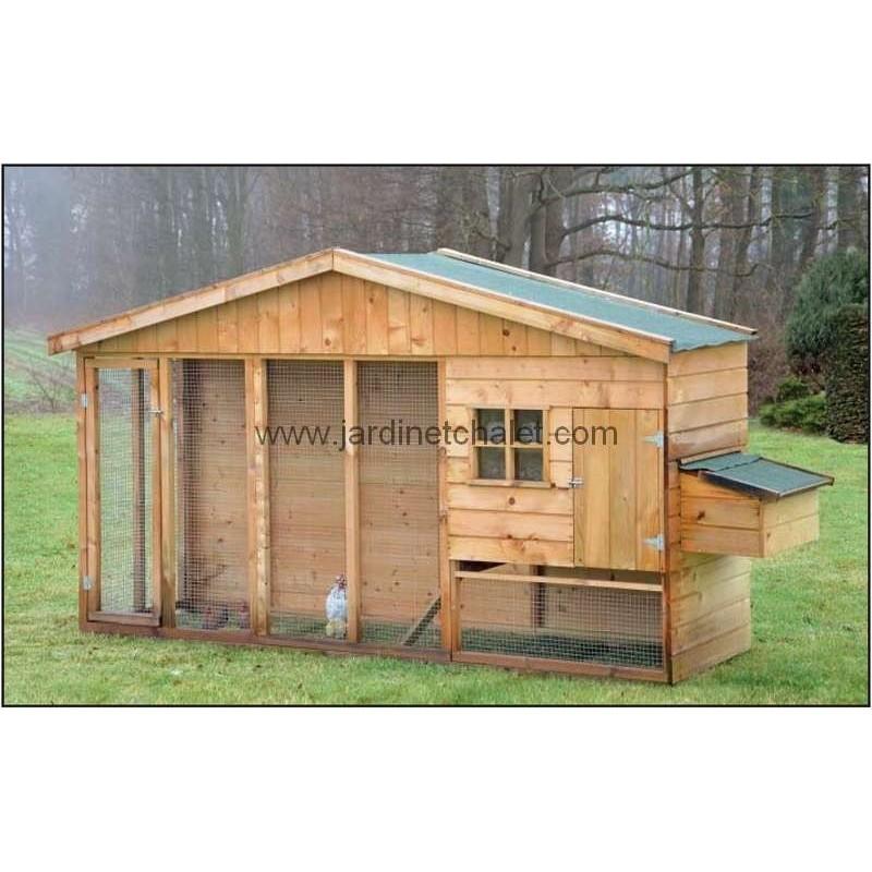 abri animaux cabane pour poule pondeuse Bielefelder