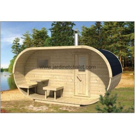 Sauna d'extérieur OVAL 10m2