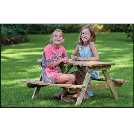 Table de pique-nique pour enfant en bois