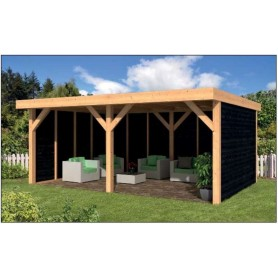 kiosque de jardin en bois pool house en kit tuindeco. Black Bedroom Furniture Sets. Home Design Ideas