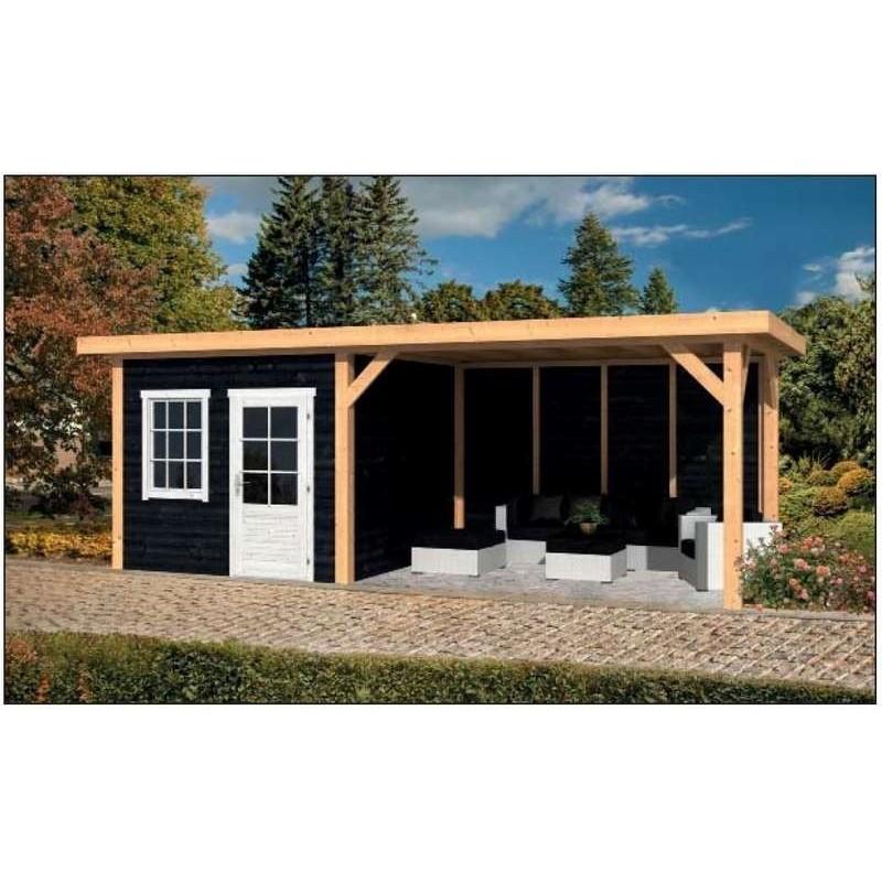 pool house 20m2 toit plat en m l ze douglas. Black Bedroom Furniture Sets. Home Design Ideas