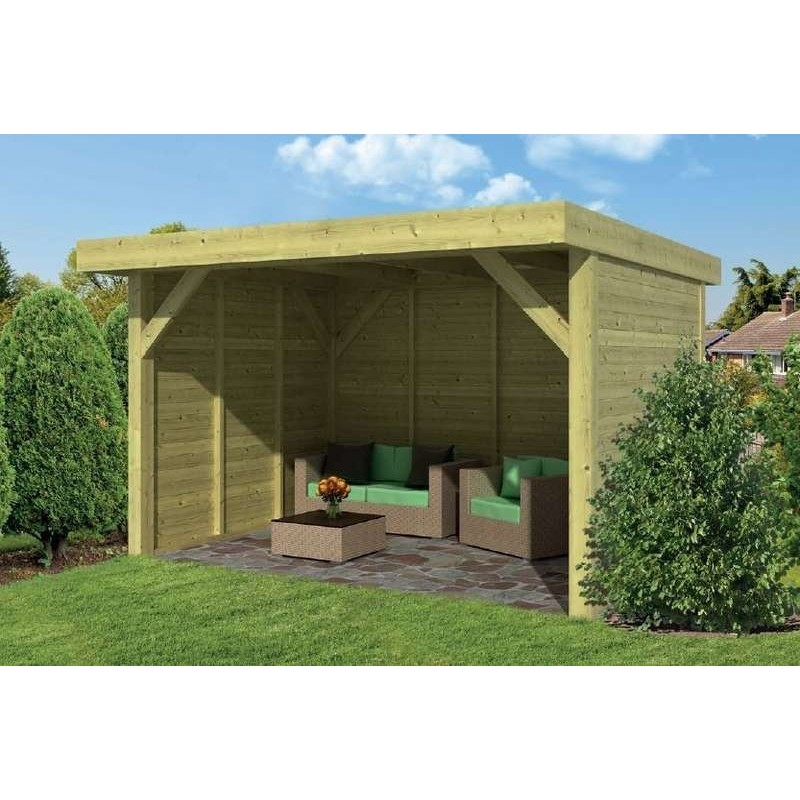 Pavillon-Chalet de jardin 16m2 400x400 Bastenaken TUINDECO