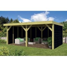 Pavillon-Chalet de jardin 24m2 600x400 Maaseik