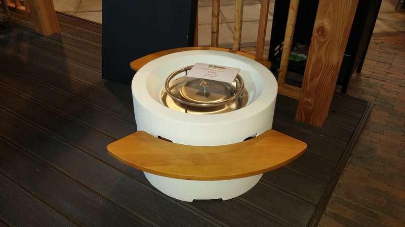 table chauffante de terrasse