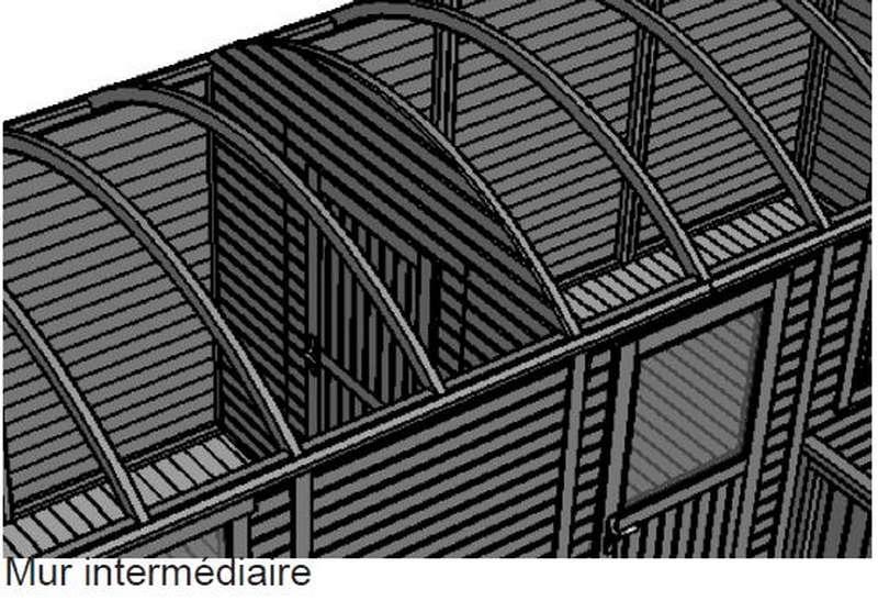 Constructeur de roulotte en bois avec mur intermédiaire