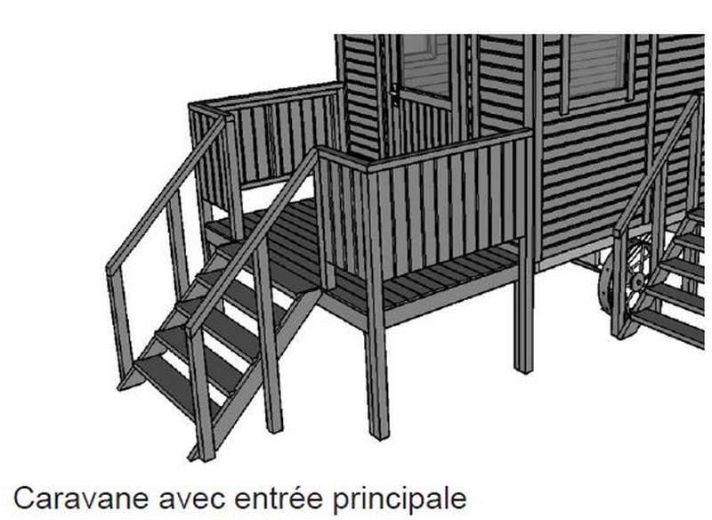 fabricant de roulotte avec terrasse frontale