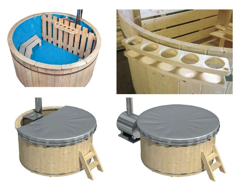 bain nordique en bois - options 1