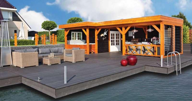 pool house realiser en mélèze douglas