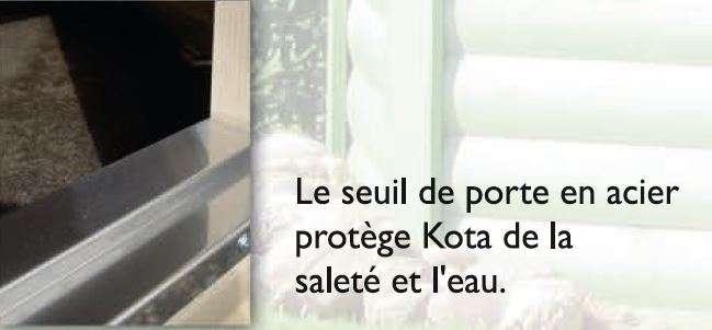 kota grill finlandais seuil de porte en acier
